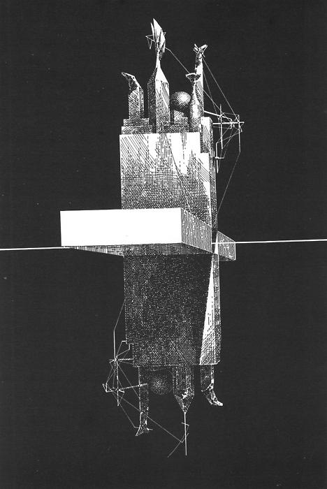 Lebbeus Woods' Einstein's Tomb 1980
