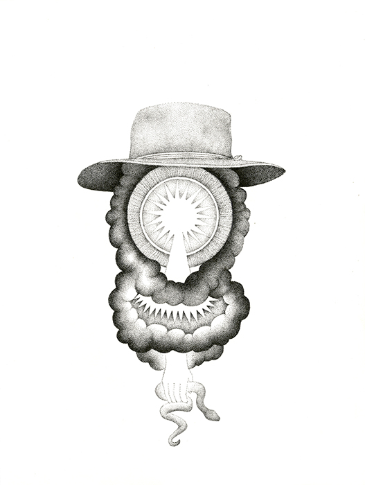 Bryan McGovern Wilson, The Atomic Sigil, Ink on paper, 14 in x 12 in, 2012