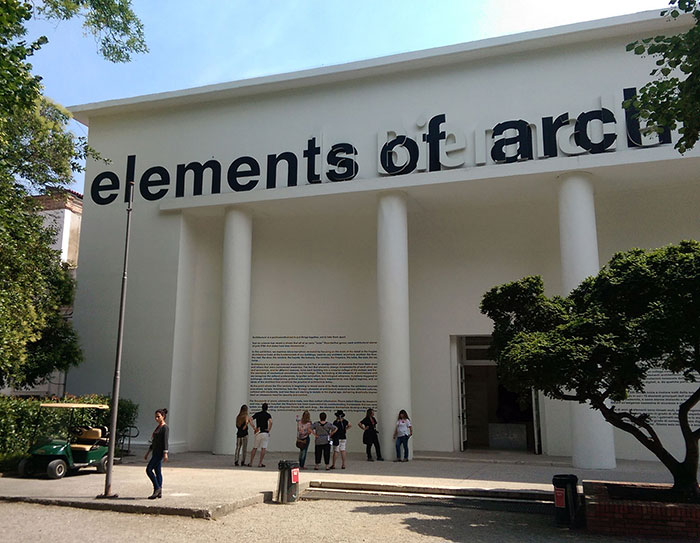 "Entrance of the Central Pavilion ""Elements of Architecture"""